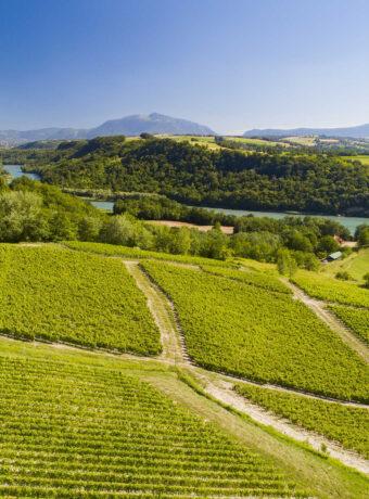 Illustration Around the Usses and Rhône rivers region